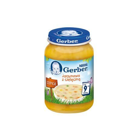 Гербер Бебешка Супа от зеленчуци и телешко 190 гр.